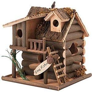 38 NWOT Birdhouse Wood Gone Fishing